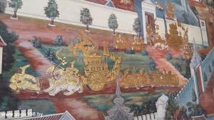 Ракшас Равана (фрески Большого Королевского Дворца. Бангкок)